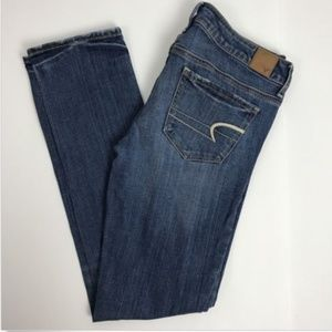 American Eagle Skinny Jeans Stretch Distressed